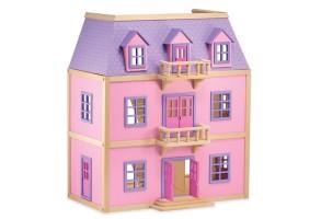Дървена къща за кукли с обзавеждане Melissa and Doug 3 етажа 14570