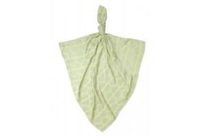 Бамбукова пелена Texpol Сърца 120/120 жълта 20823