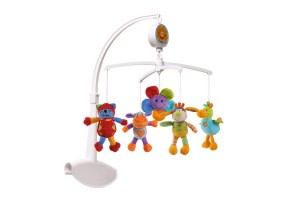 Музикална въртележка за кошара с плюшени играчки