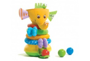 Активно двигателна играчка Musical Stack & Ball - Elephant