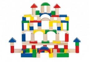 Дървен конструктор 100 части