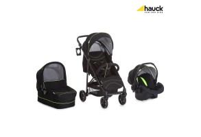 Бебешка количка HAUCK Rapid 4 Plus Trio set Caviar/Neon yellow