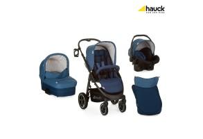 Бебешка количка HAUCK Soul Plus Set 3в1 Melange Navy