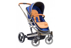 Бебешка количка Kikkaboo Divaina 2 in 1 със зимен кош, Синя