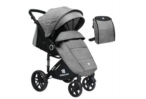 Бебешка лятна количка Juno Light Grey 2020