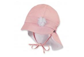Бебешка лятна шапка с UV 30+ защита с платка на врата