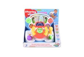 Бебешки музикален волан Moni, Steering, многоцветен, 12 месеца+
