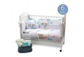 Бебешки спален комплект Kikkaboo Fantasia, С обиколник 70х140 см, Шест части