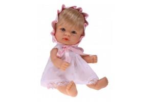 Bomboncin, Кукла-бебе Чикита, с розова рокличка и шапка