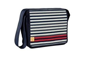Чанта Lassig Stripped Zigzag navy