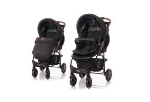 Детска количка DAISY + покривало  BLACK CIRCLES