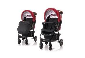 Детска количка DAISY + покривало  RED&BLACK LIGHTHOUSE