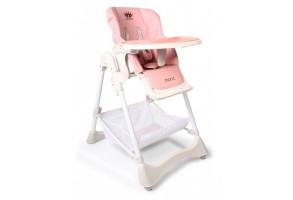 Детски стол за хранене Moni, Chocolate, розов, 6+