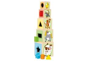 Дървени кубчета-сортер, Животни