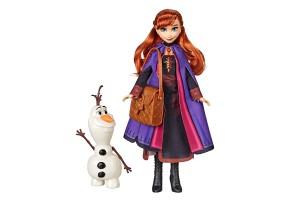 Кукла и фигурка Hasbro FROZEN 2 Анна и Олаф E5496