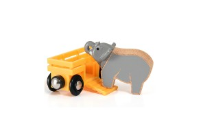Играчка Elephant and wagon