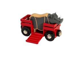 Играчка Rhino and wagon