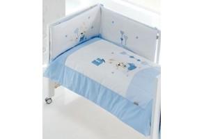 Interbaby бебешки спален комплект 3 части Зайчета (60x120см, 70x140см)