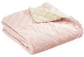 Interbaby детско одеяло Cozzy розово (80x110см)