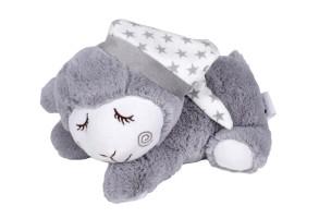 Interbaby плюшена играчка за колики с черешови костилки Beige Sleep Sheep