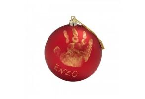 Коледна топка Baby Art Christmas Ball - червен мат (златна боя) BA-00036