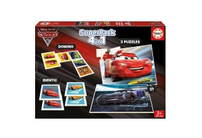 Комплект 4 в 1 EDUCA SUPERPACK CARS 3 17199