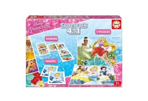 Комплект 4 в 1 EDUCA SUPERPACK DISNEY PRINCESSES 17198