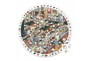 Кръгъл пъзел за наблюдателност - Кухнята в ресторанта