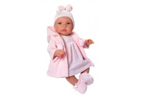 Кукла-бебе, Лея, с розово палто