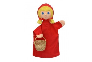 Кукла за театър червената шапчица с плетена кошничка