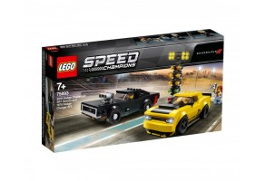 LEGO Speed Champions 75893 - 2018 Dodge Challenger SRT Demon и 1970 Dodge Charger R/T