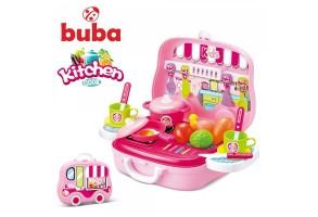 Малка детска кухня Buba Kitchen Cook, 008-915, Розова