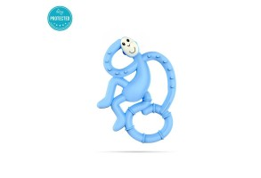Matchstick Monkey Mini Monkey Teether чесалка с апликатор - Light Blue