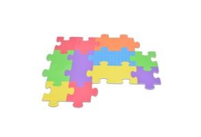 Мек пъзел-килим Moni Toys, Giant, 16 елемента, многоцветен