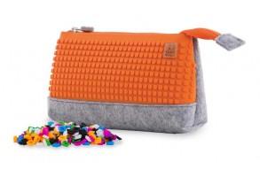 Несесер за моливи Pixie PXA-01, сиво/ оранжево