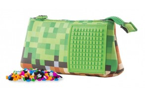Несесер за моливи Pixie PXA-02, Mine&Craft/зелен