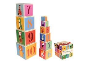 Образователни картонени кубчета - Цветни създания