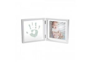 Отпечатък с боя + снимка My Baby Style - бяла рамка/прозрачно паспарту BA-00062