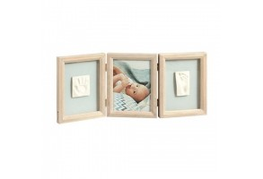Отпечатък за ръчичка и краче Classic Baby Art, светло сива рамка, BA-00025