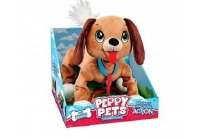 Peppy Pets - Плюшен любимец за разходка навън - кафяво кученце