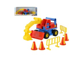 Polesie Toys Багер с конуси ConsTruck - 37701, Многоцветен, 0+