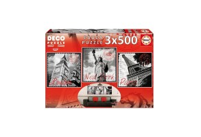Пъзел EDUCA BIG CITIES 3x500ч 17096