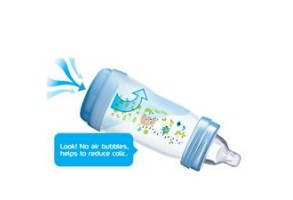 Шише MAM Easy Start Anti Colic 260ml 2бр сиви
