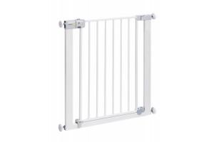 Универсална метална преграда за врата с механизъм за автоматично заключване - бял цвят