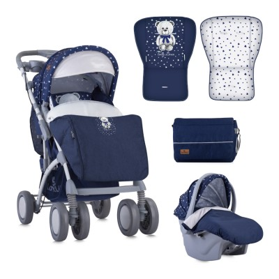 Детска количка Toledo Set Dark Blue Teddy Bear