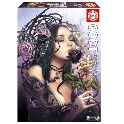 Пъзел EDUCA THE MIDNIGHT ROSE 1000ч 17110